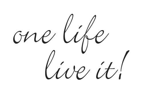one-live-life-it