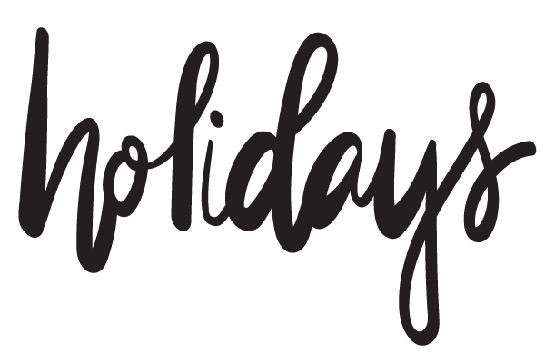 holidays-lettering